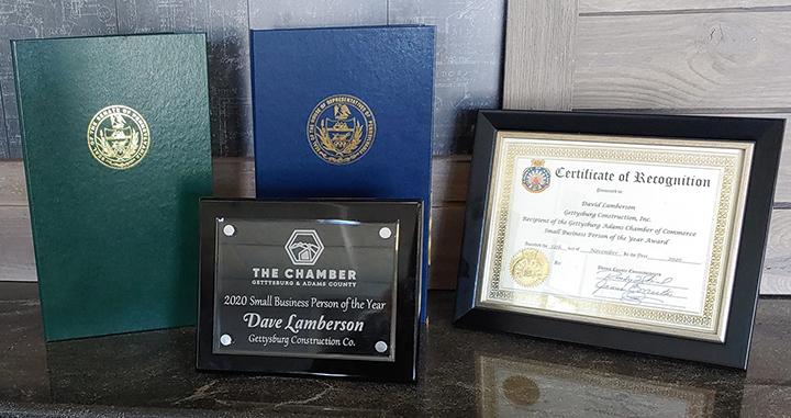 2020 Gettysburg Construction awards